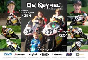 Kaleb & Mason De Keyrel Racing Poster 2011